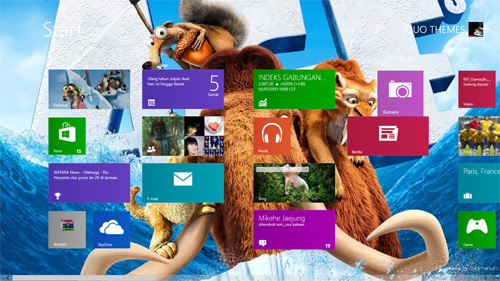 Ice Age Theme For Windows 8