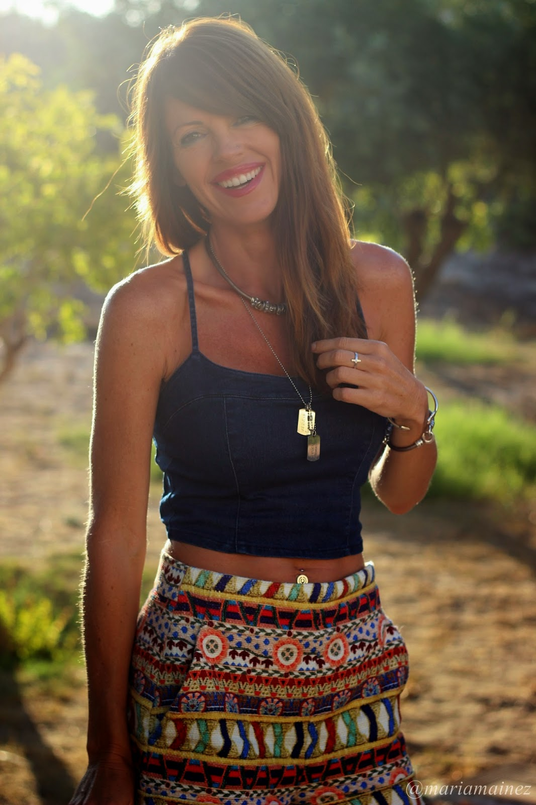 Streetstyle 2014 - Shorts Zara - Crop top denim - Smile