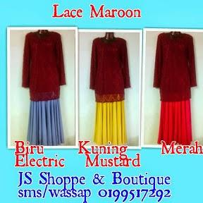 Baju lace Maroon