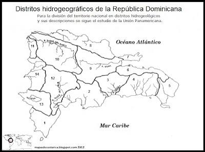 Mapa de Distritos hidrogeográficos de la República Dominicana