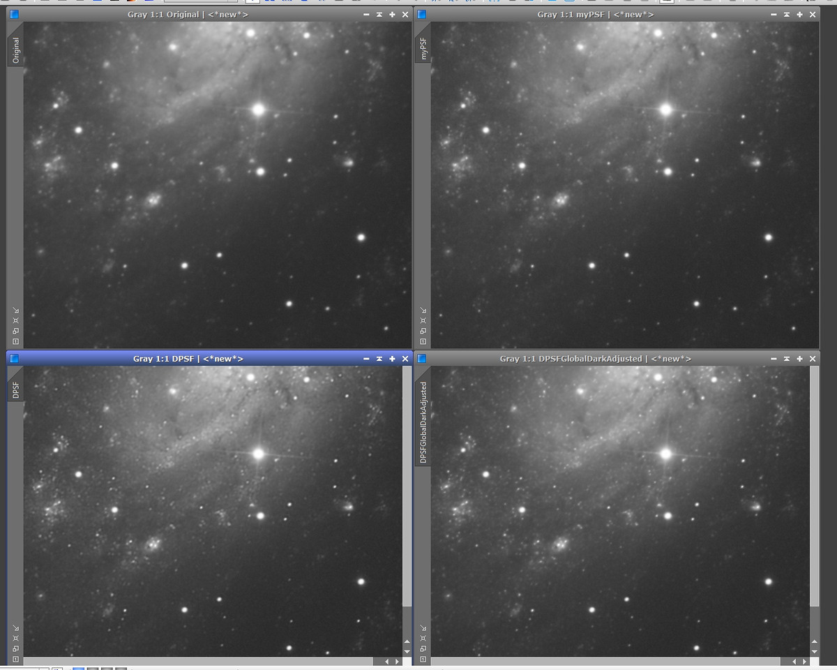Deconvolution comparison