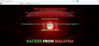 Laman Web sultansulu.com Kena Hack Dengan Hacker Malaysia