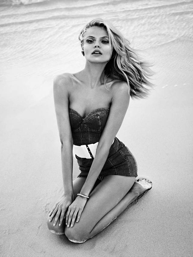 Vogue Paris, Magdalena Frackowiak, beach, island bound, editorial