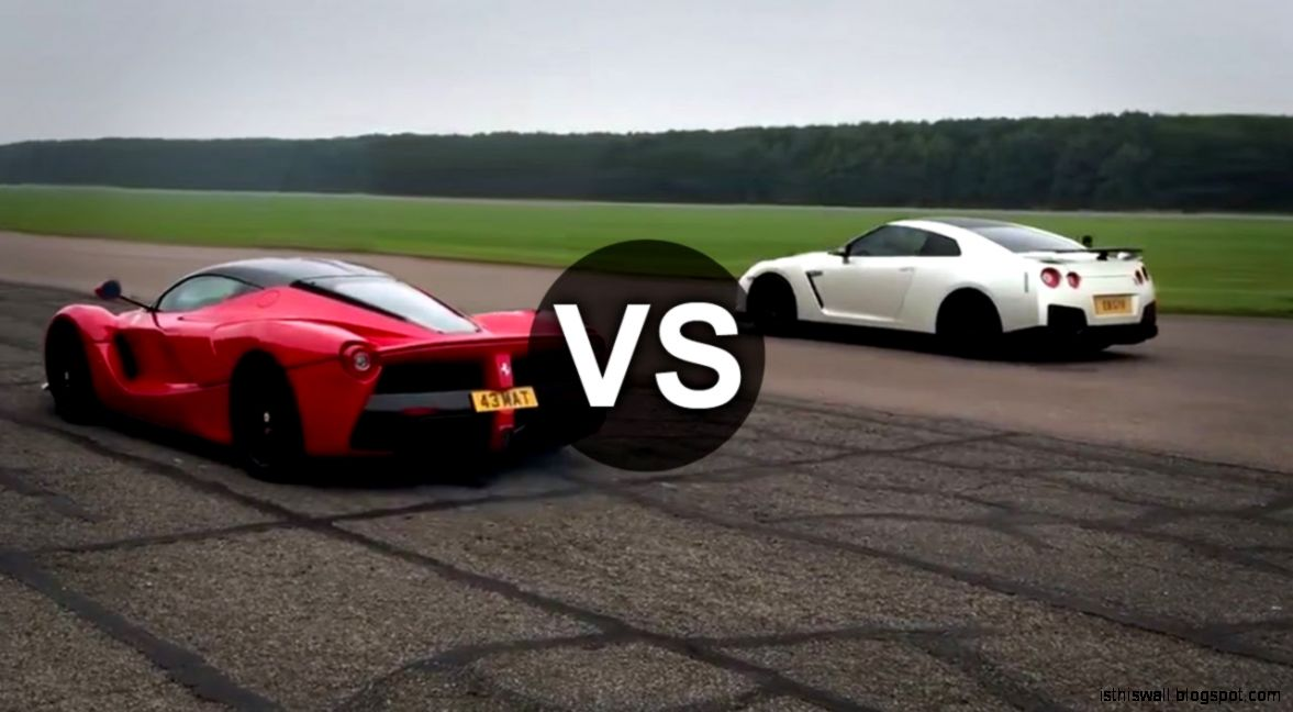 Ferrari LaFerrari Vs Nissan GTR Drag Race   DRAGINFO   YouTube