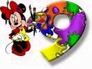 Alfabeto de Minnie Mouse pintando 9.