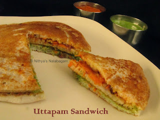 Uttapam Sandwich | Step wise pictures