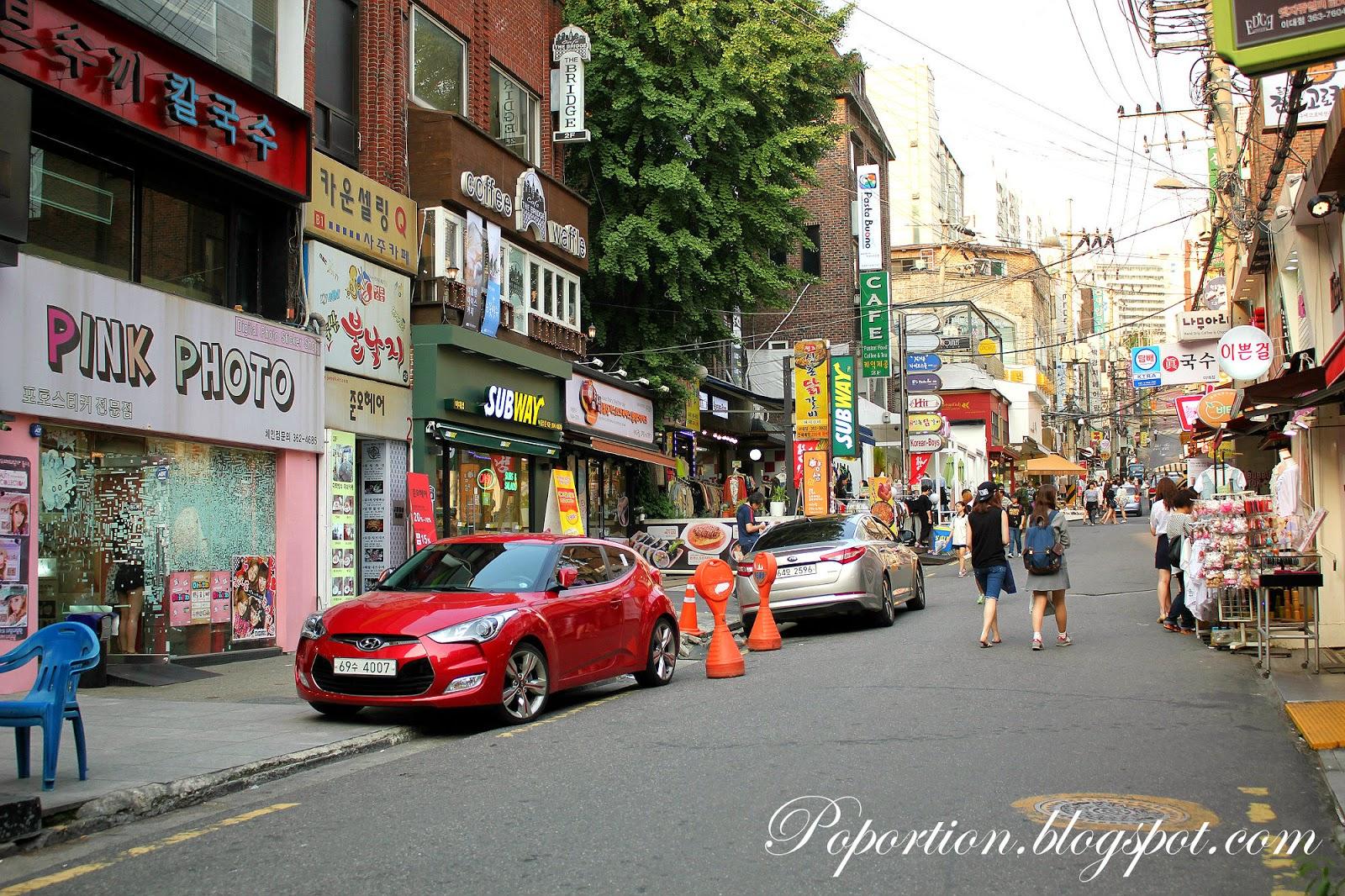 ewha womans university shopping street where to go