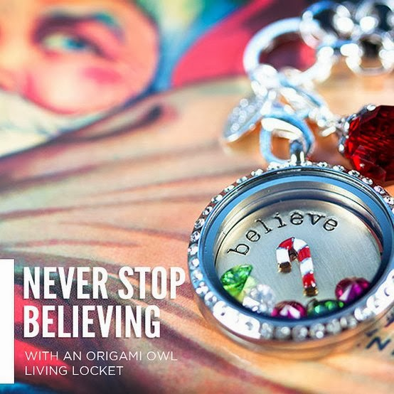 Never Stop Believing with an Origami Owl Living Locket - Come create your own at StoriedCharms.com