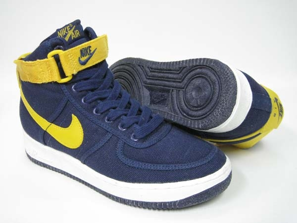 the best attitude 49b49 68bfe 1994 NIKE AIR FORCE 1 HIGH CVS SC MIDNIGHT NAVY YELLOW GOLD