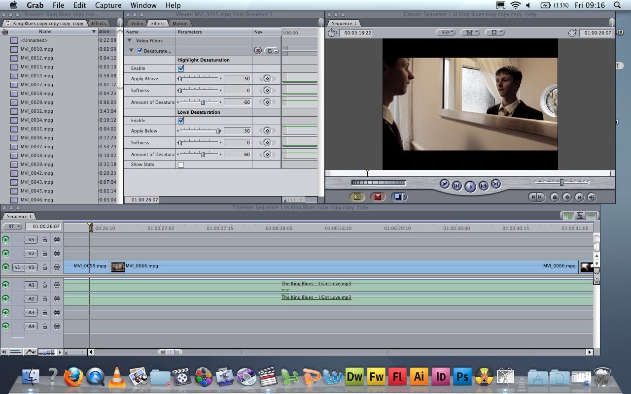 how to split screen in final cut pro 7