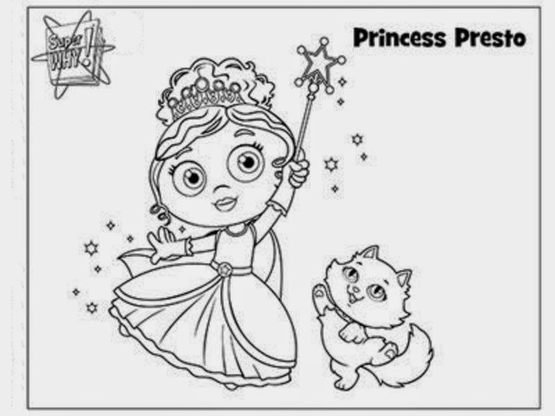 interesting collection of super why coloring pages