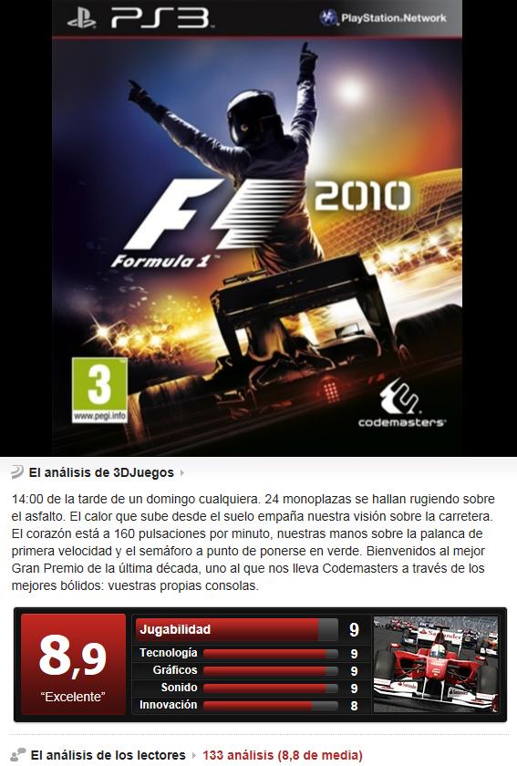 F1 2010 [PS3][Multi][3.55]