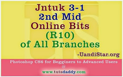 Jntuk 3-1 (R10) 2nd Mid Online Bits for All Branches ECE, ECM, EEE, MECH, EIE, CSE, IT..