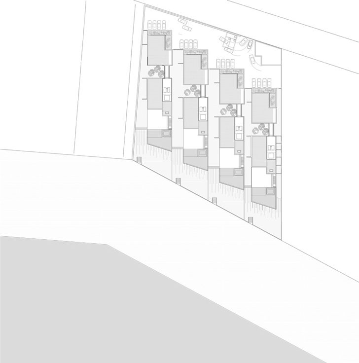 Site plan of Modern beach house in Brazil