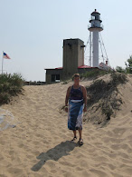 Marilyn at Whitefish Point Lighthouse