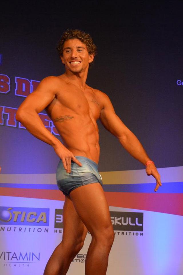 Bernado se preparou para o campeonato em dois meses e se apresentou com 64 kg. Foto: Alencar Amaral