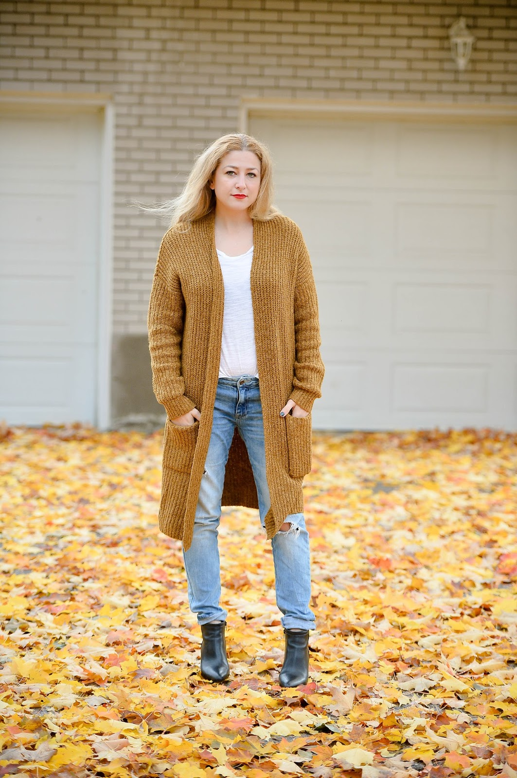 slouchy fit cardigan