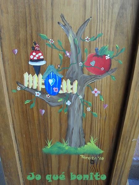 Paragüero decorado