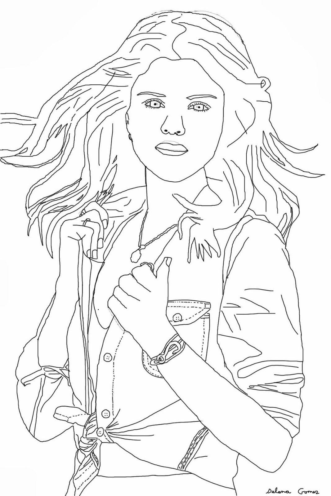selena gomez coloring page - selena gomes free colouring pages