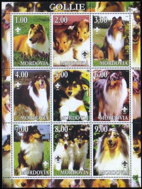 2000年モルドバ共和国 コリーの切手シート