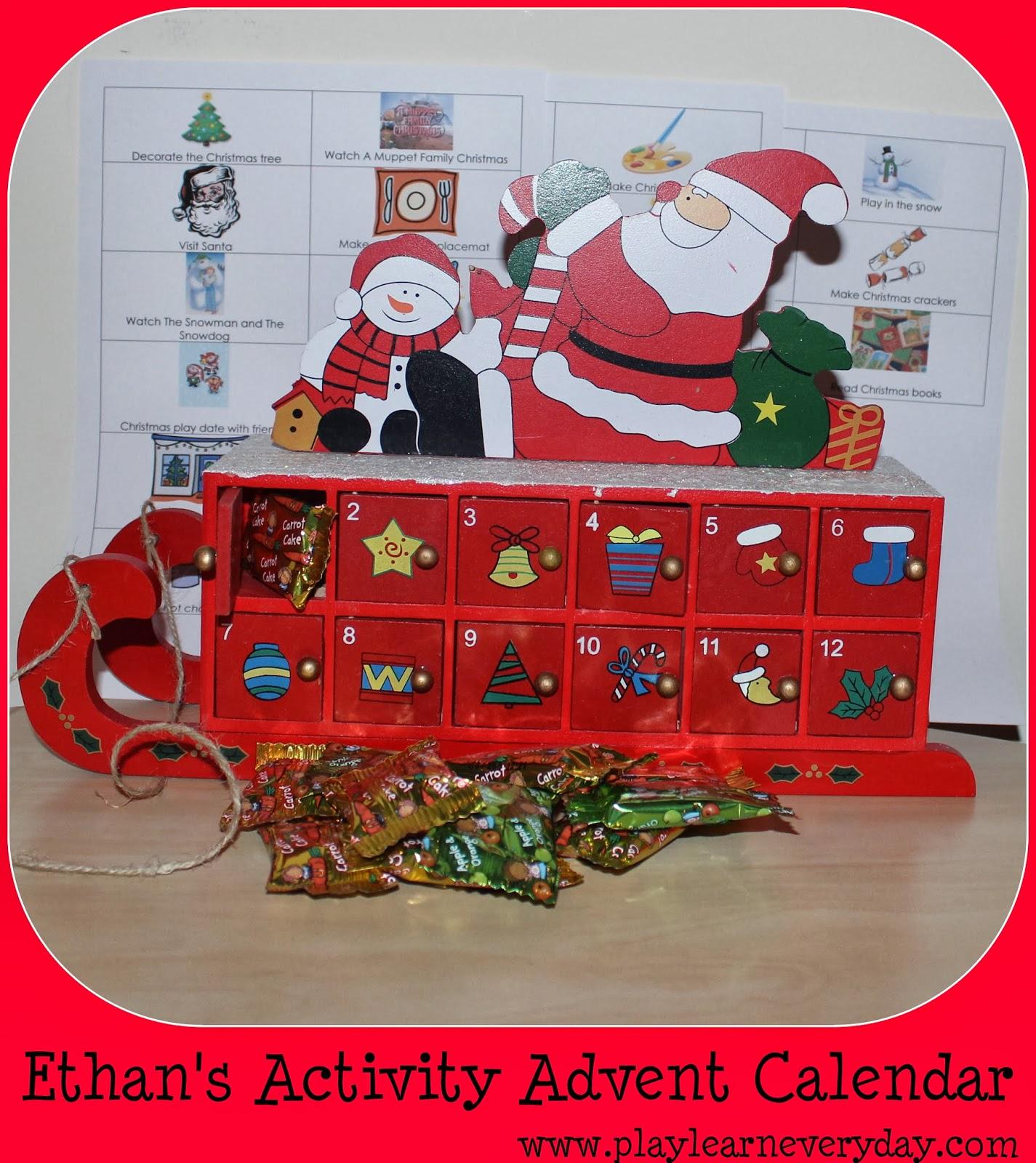 Advent Calendar Art Lesson : Ethan s activity advent calendar play and learn every day