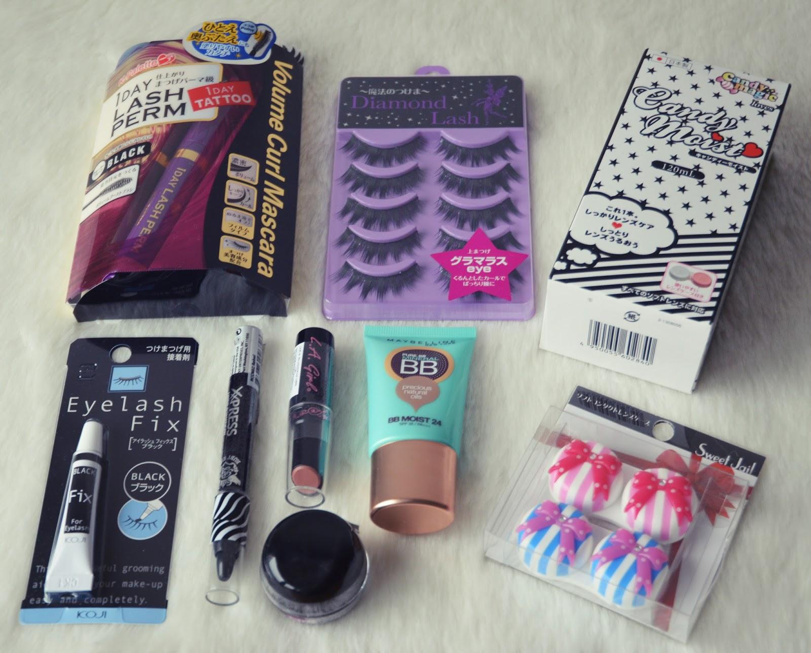 tokyo shopping haul japanese makeup