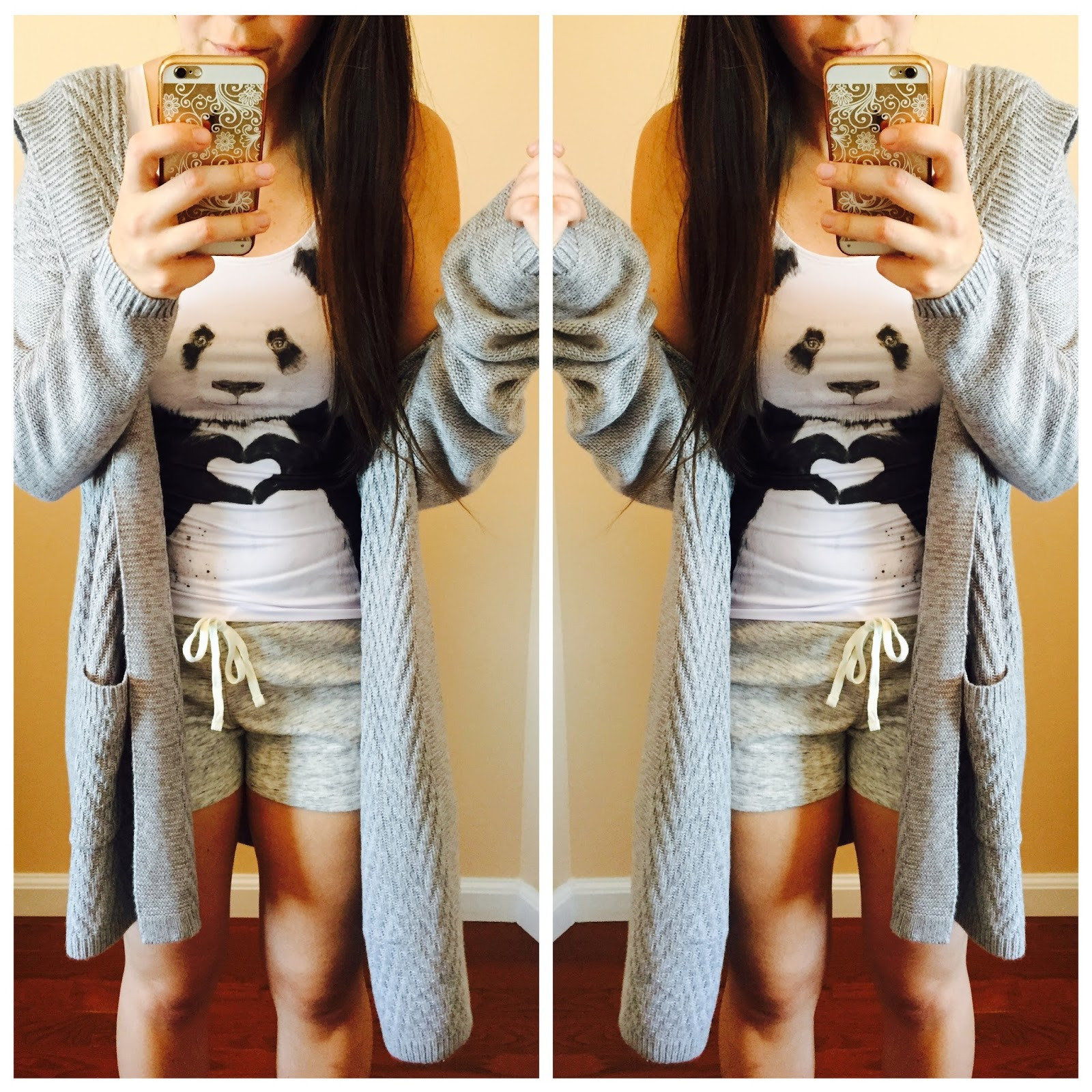 college wear, lounge wear, panda tank top, pinkcess, pinkcess tank top, panda tank,
