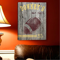 Personalized Man Cave Canvas Print