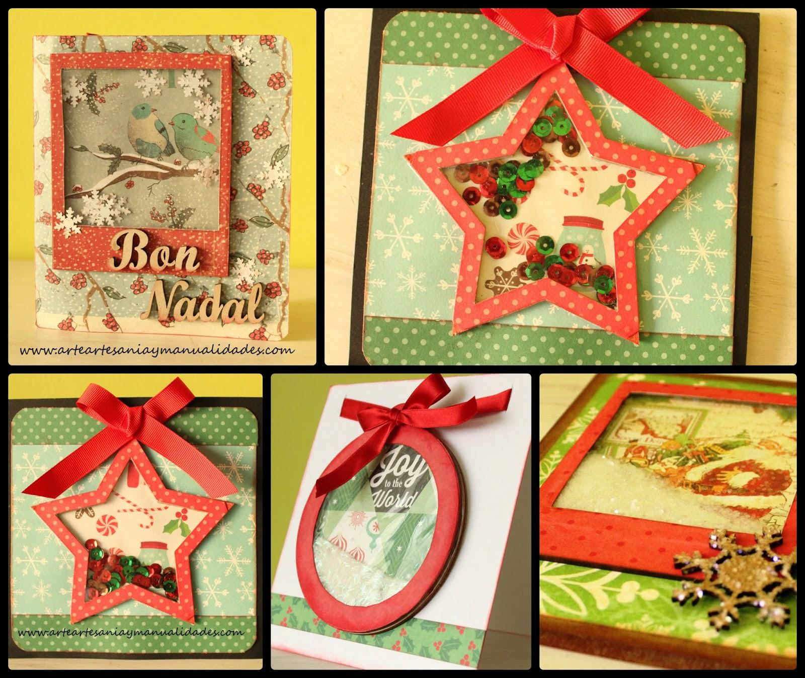 Arte artesania y manualidades tarjetas navidad - Tarjeta de navidad manualidades ...