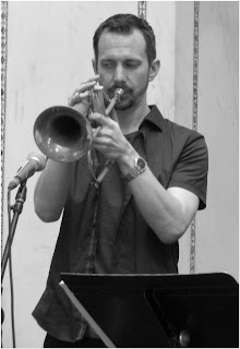 Chad McCullough - flugelhorn - Beveled - 2015 Chicago Jazz Festival   Photograph by Tom Bowser