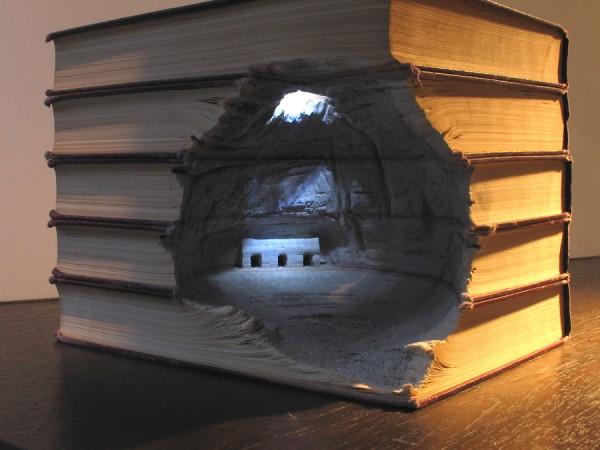esculturas libros