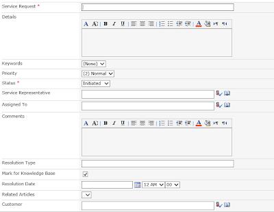SharePoint standard form