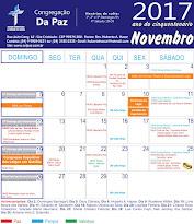 Calendário de Novembro