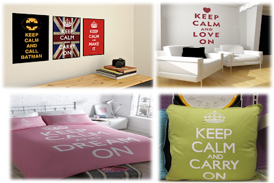 decoracion keep calm and carry on pintura y madera