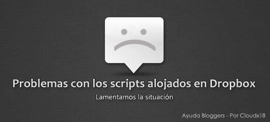 Problemas con los scripts alojados en Dropbox [Solucionado]
