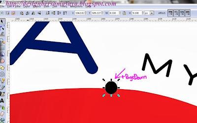 Inkscape : Cara Send To Back Object