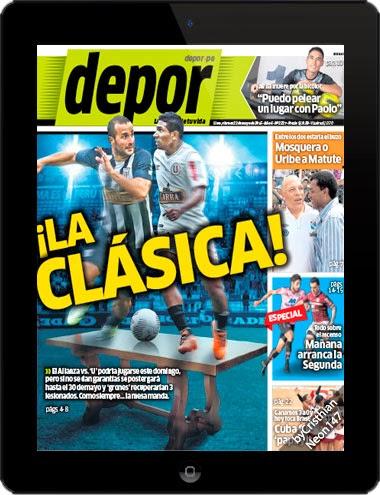 Diario Depor Perú (22 Mayo 2015) ESPAÑOL - ¡La clásica!, el Alianza vs. 'U' podría jugarse este domingo, pero si no se dan garantías se postergará hasta el 30 de mayo