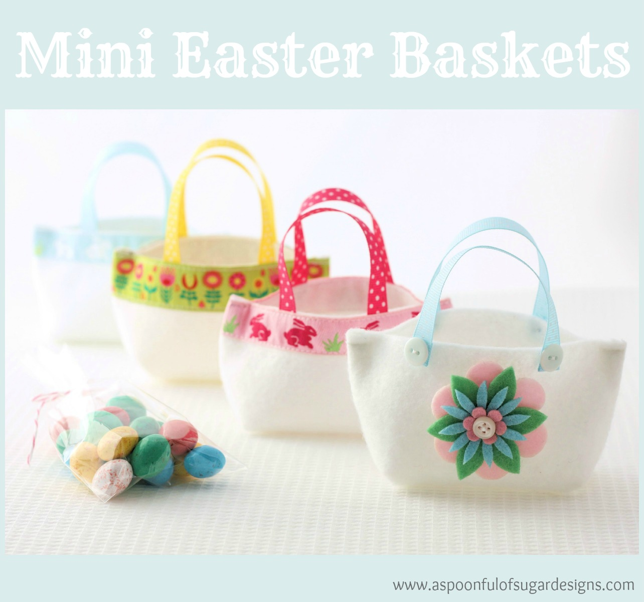 Easter baskets to make a spoonful of sugar with easter only 6 weeks away we have been designing some mini easter baskets to make using small pieces of felt and ribbon from our stash negle Gallery
