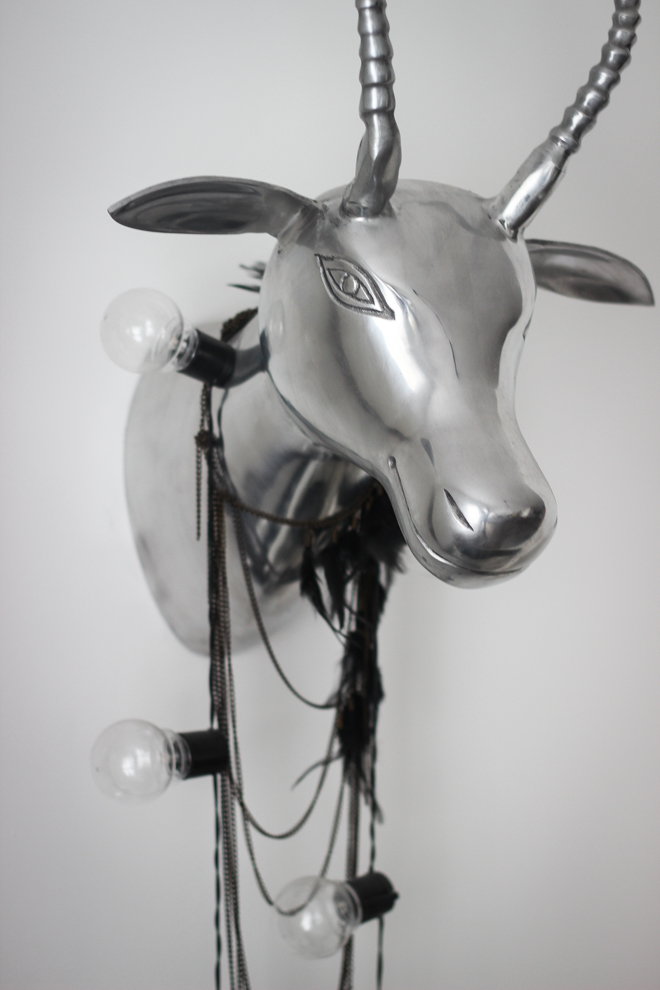 Wall Chrome Stag Head - Decor Inspiration