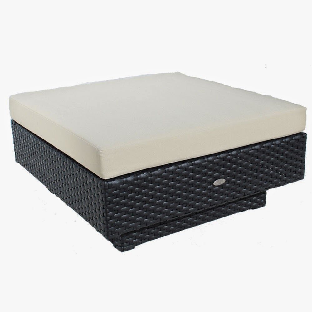 Chicago Ottoman In Poly Rattan