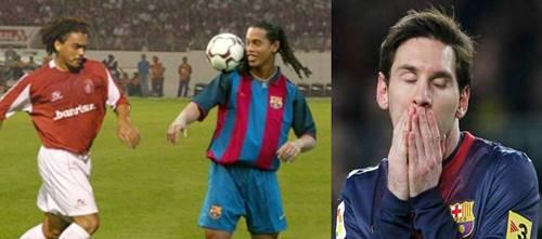 Perdigão ganhou do Barcelona com o Ronaldinho, o Messi não