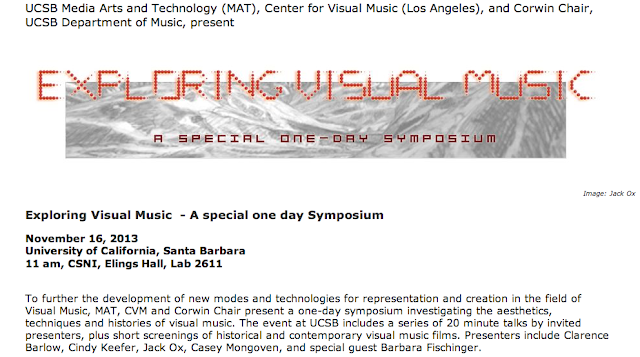Exploring Visual Music - Symposium