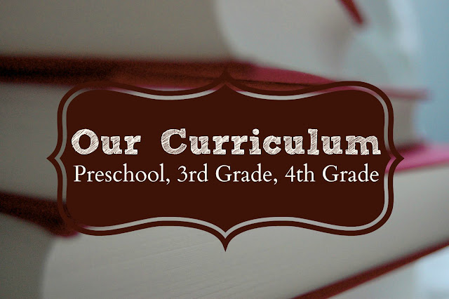 Our Curriculum 2015-2016 (Preschool, 3rd Grade, & 4th Grade)