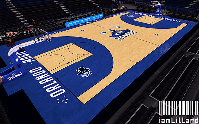 NBA 2K13 Amway Center New Court Design Mod