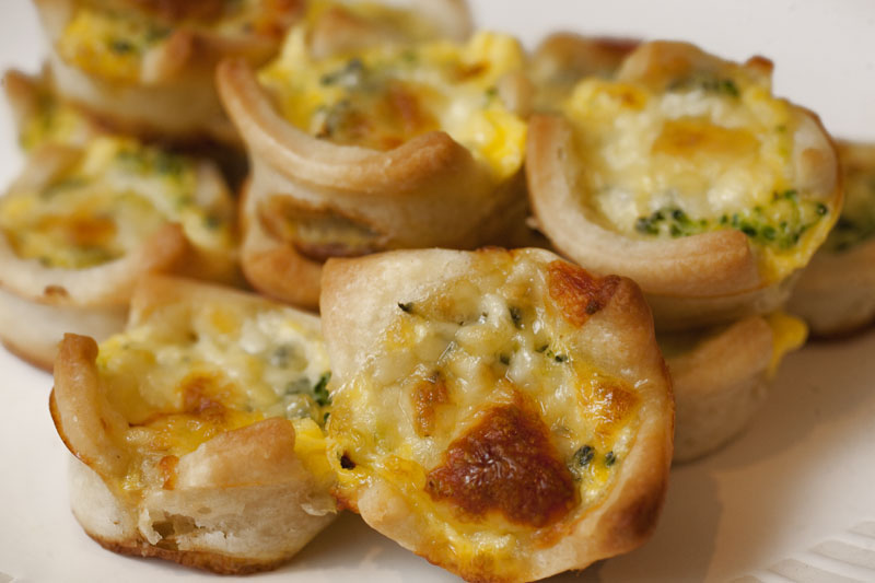 Broccoli and Cheese Mini Quiche