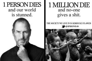 Muere un celebre y el mundo se conmueve, muere un millón de niños de hambre y nada