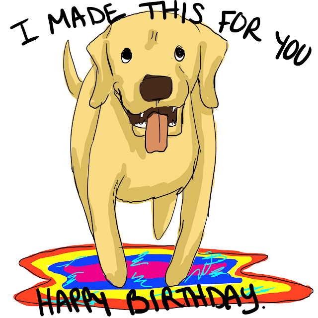 I Made This For You Happy Birthday Gin Comic Quills and Frills