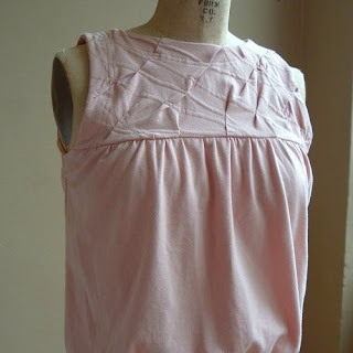 Sleeveless Top in Pink Jersey