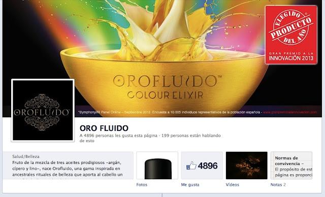 Oro Fluido en Facebook