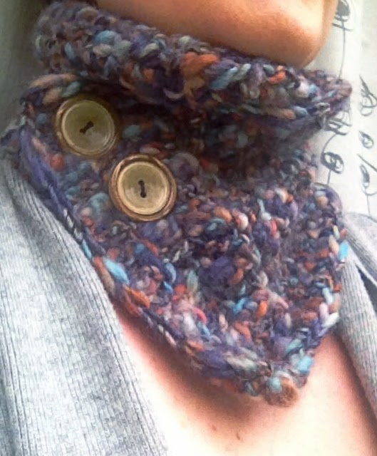 Little Crochet: Thick And Thin Cowl Scarf - Pattern
